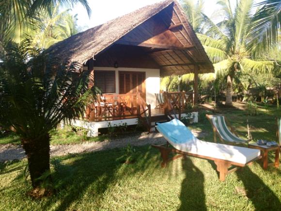 A louer, charmante maison sur la plage d'Ampasikely