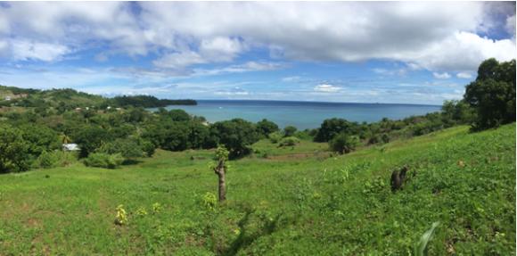 A vendre, très beau terrain avec une vue panoramique sur la mer