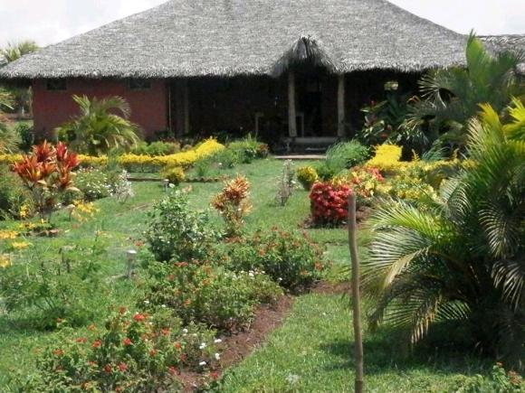A louer, charmante maison niché dans un joli jardin tropical.
