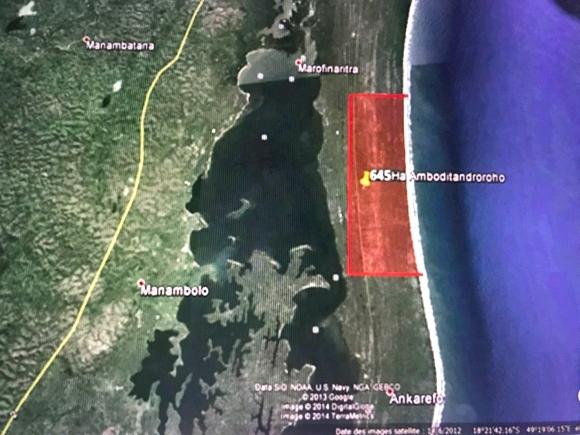 Terrain de 645 ha en bord de mer à Tamatave